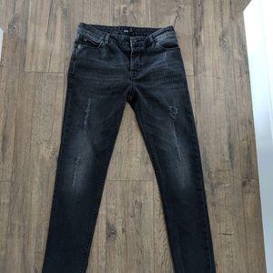ASOS Design Woman's Skinny Jeans Slim Washed Black